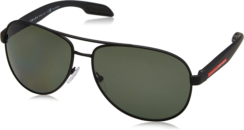 Prada Montures de lunettes Homme Noir (Black Rubber/Polargreen)