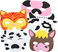 US Toy - Farm Animal Masks, Assorted Colors, 7