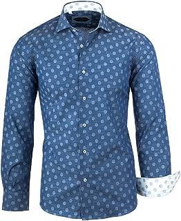 Blue Light Blue Polka-Dot Pattern Italian Pure Cotton Sport Shirt Canaletto