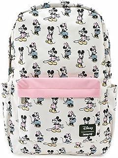 Loungefly Pastel Minnie Mickey Nylon Backpack