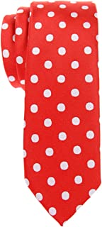 Classic Polka Dots Woven Microfiber Skinny Tie - Various Colors