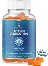 Lutein Gummies with Zeaxanthin Supplements for Adults & Kids - Eyes Vitamins, Vision Support, Sugar-Free Gummy, Vegetarian Friendly, All-Natural, Kosher & Halal Certified 60 Count