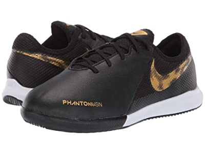 Nike Kids Phantom Vision Academy IC (Little Kid/Big Kid) (Black/Metallic Vivid Gold) Kids Shoes