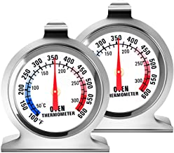 2 Pack Oven Thermometer – Large Dial Kitchen Cooking Thermometer100-600°F Oven Themometer for Convection Oven Instant Read Stainless Steel Thermometer for Gas Oven – Lirches