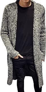 Stunner Men's Spring Slim with Hood Sweater Casual Long Cardigan