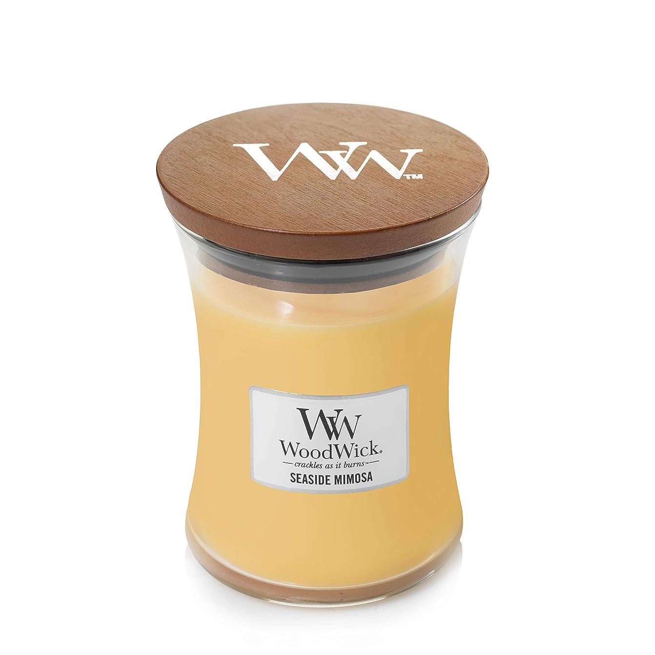 かんがい等々過半数Woodwick SeasideミモザJar Candle、ミディアム