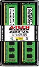 A-Tech 4GB DDR3 Desktop RAM Kit - (2 x 2GB) DDR3 1600MHz PC3-12800 240-Pin Non-ECC DIMM Memory Modules