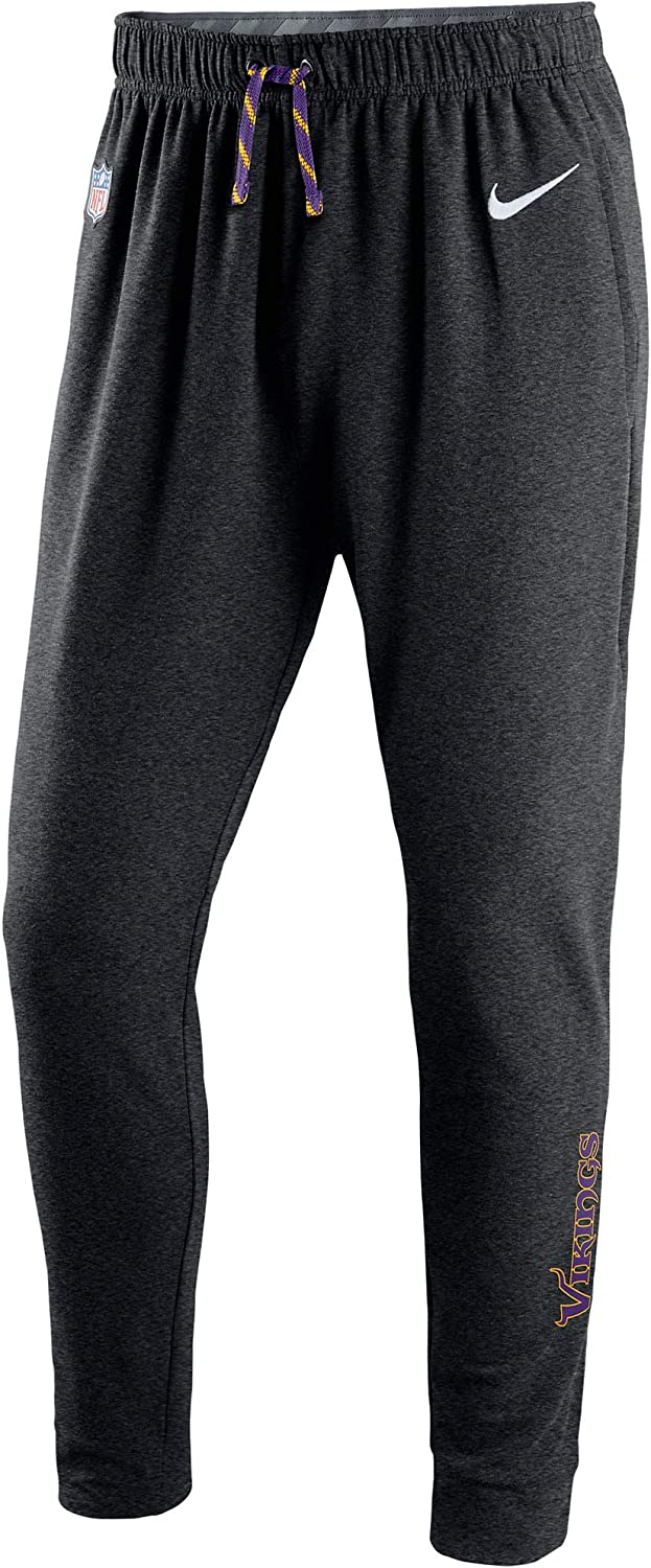 Nike Men's Minnesota Vikings Therma-Fit Circuit NFL Training Pants -Anthracite Black (XX-Large)