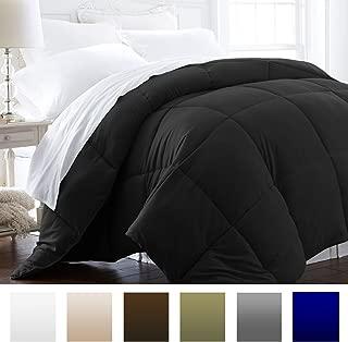 Beckham Hotel Collection 1600 Series - Lightweight - Luxury Goose Down Alternative Comforter - Hotel Quality Comforter and Hypoallergenic - Full/Queen - Black