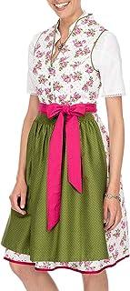 Stockerpoint Damen Midi Dirndl 2tlg. 60 cm Peggy pink grün