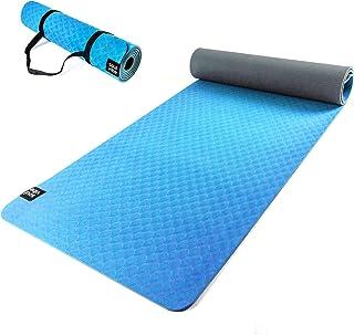 121PERFORM Esterilla de Yoga de TPE Delgada de 6 mm. Estera Antideslizante de Buen Agarre. Ecológica, Adecuado para Fitness o Pilates, Correas para Llevar Incluidas