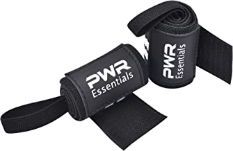 PWR Essentials Wrist Wraps - 12 inch Pair Fitness, Powerlifting, Bodybuilding, Weight Lifting, Cross-Training, Supports, Loop, Grip