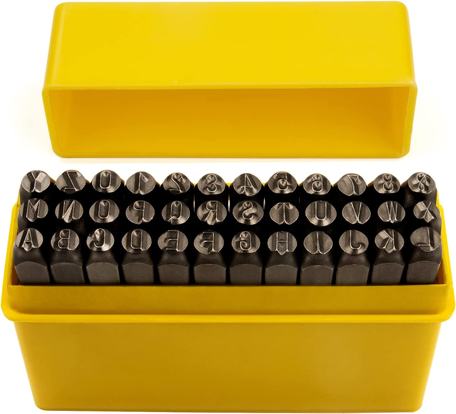 36-Piece Letter and Los Angeles 5 popular Mall Number Punch Chrome In Set Vanadium Steel