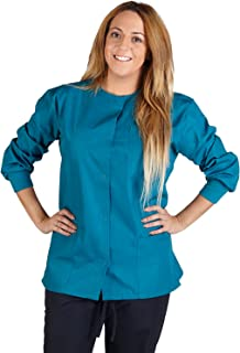 Natural Uniforms Women's Warm Up Jacket Medical Scrub Jacket (XS to 5XL) (X-Large, Teal)