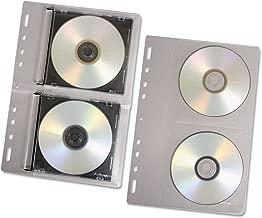Fellowesamp;reg; Vinyl CD/DVD Refill Sheets for Three-Ring Binders, Clear, 10 per Pack