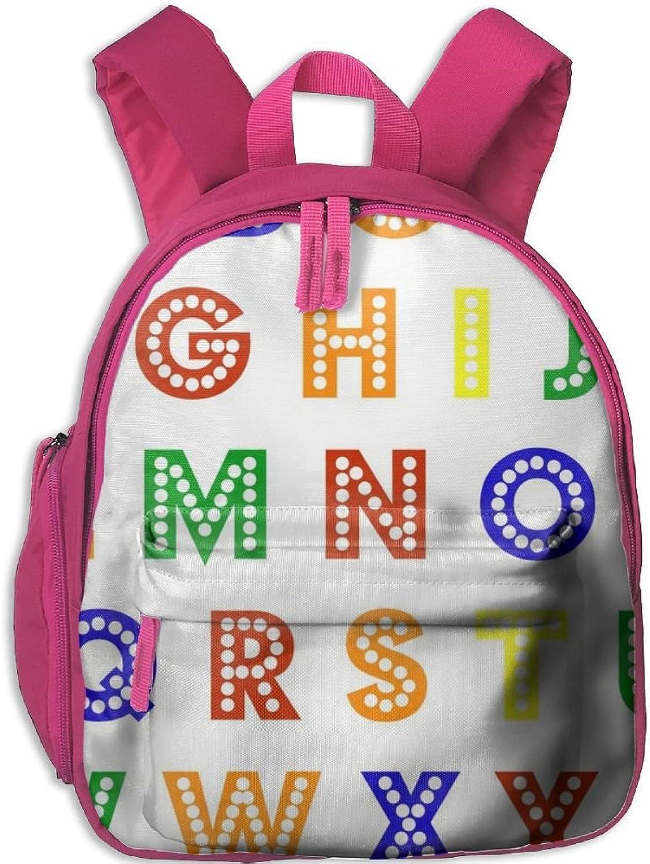 Lightweight Kids School Rainbow Alphabet(9238) Backpack