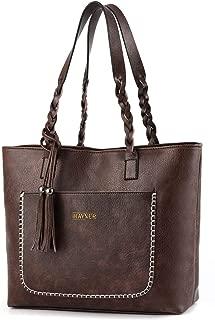 Women Tote Bags Retro Shoulder Bag Purse Satchel Hobo Purse Zippred Waterproof Travel Handbags with Tassel
