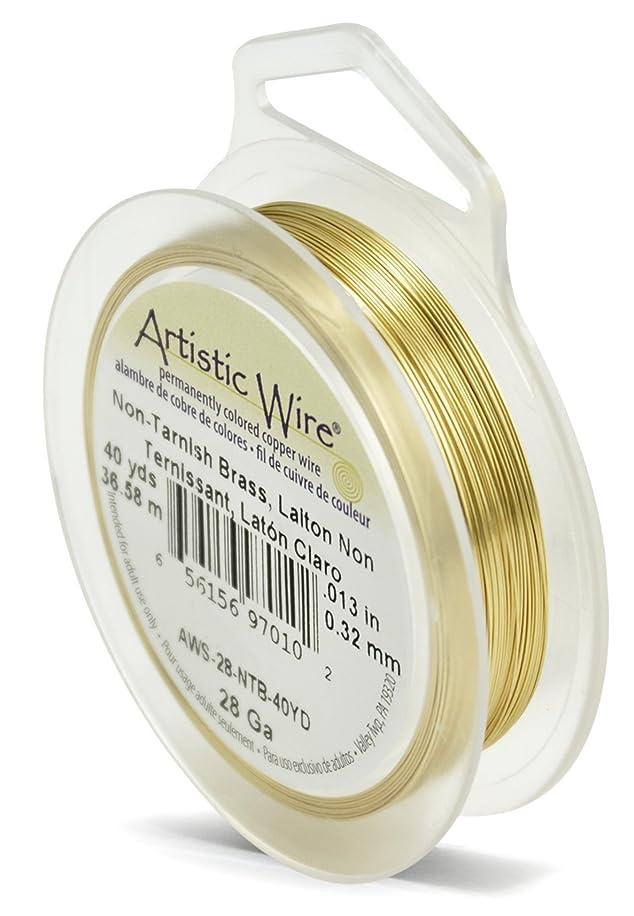 Artistic Wire 28-Gauge Non-Tarnish Brass Wire, 40-Yards