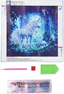 Cross Stitch Kit DIY Painting, Unicorn Pattern DIY Painting Craft, for Bedroom Study Store Room Living Room
