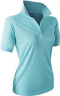 Women's Sport Wear 2-Button Polo Short Sleeve Shirt