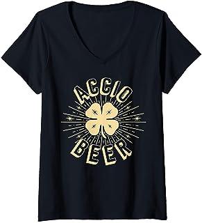 Mujer Regalos para el Día de San Patricio - Accio Beer Funny gift Camiseta Cuello V