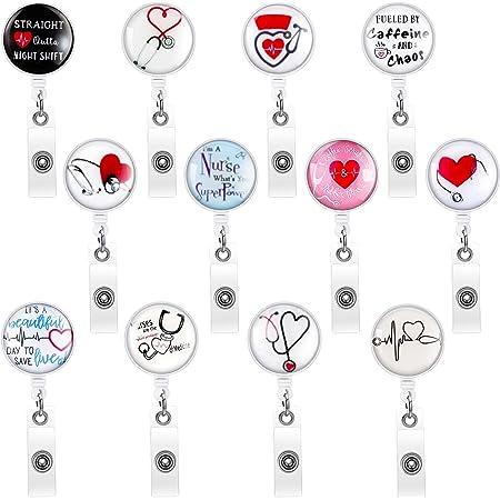planner clip badge pull planner clip retractable badge reel id badge holder kelsey kidneys badge holder