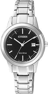 Citizen 西铁城 女士刻度盘石英手表 不锈钢表链 FE1081-59E Silver