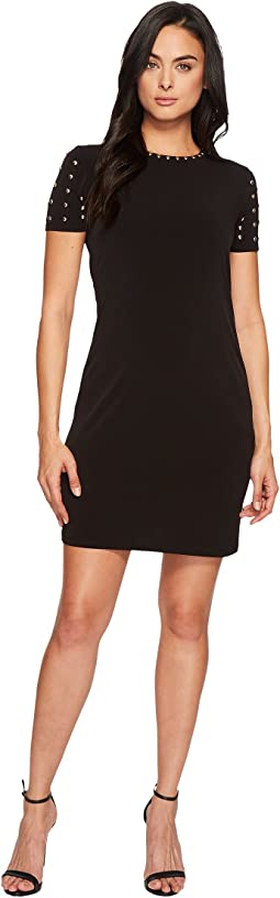 MICHAEL Michael Kors Short Sleeve Dome Stud Dress