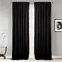 StangH Blackout Velvet Curtains - Thermal Insulated Velvet Drapes Energy Smart Repel Summer Hot & Winter Cold Privacy Pane...