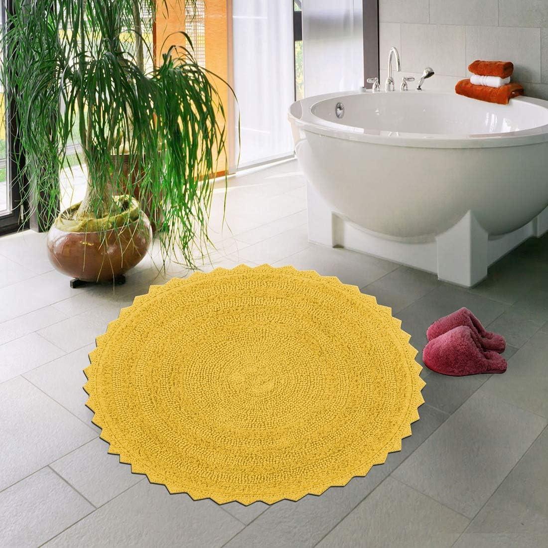 Crochet Reversible Bath Mat 2021 new 100% Popular brand Round Bathroom Cotton Rug