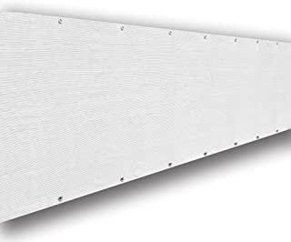 ALION HOME Elegant Privacy Screen Windscreen Mesh for Backyard Deck, Patio, Balcony, Fence, Porch, Pool, Beach (6' x 8', White)