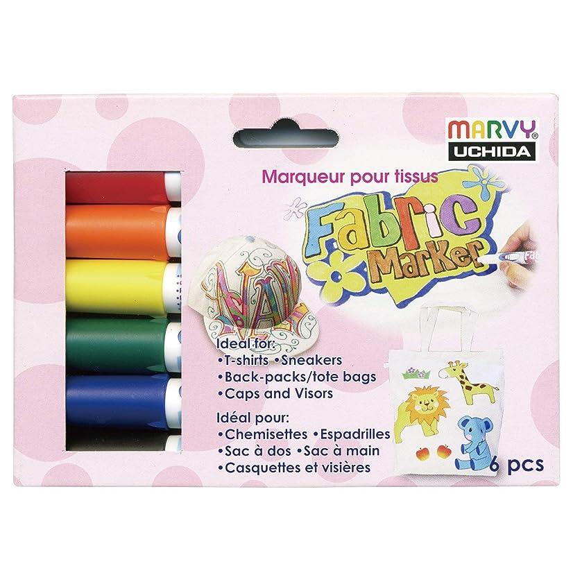 6 color set 560 fabric marker basic color mer B 560-6A (japan import)