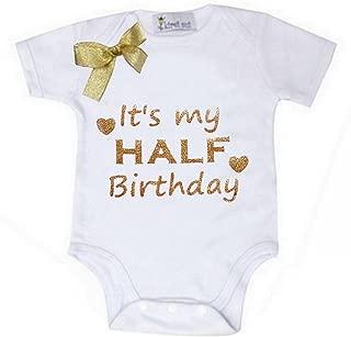 Kirei Sui Baby Gold 1/2 Half Birthday Bodysuit Outfit