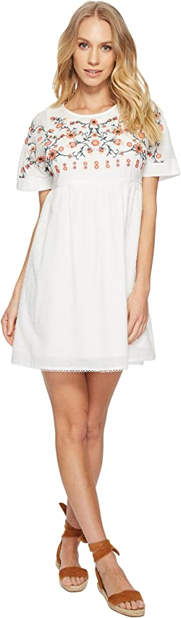J.O.A. Embroidered Babydoll Dress