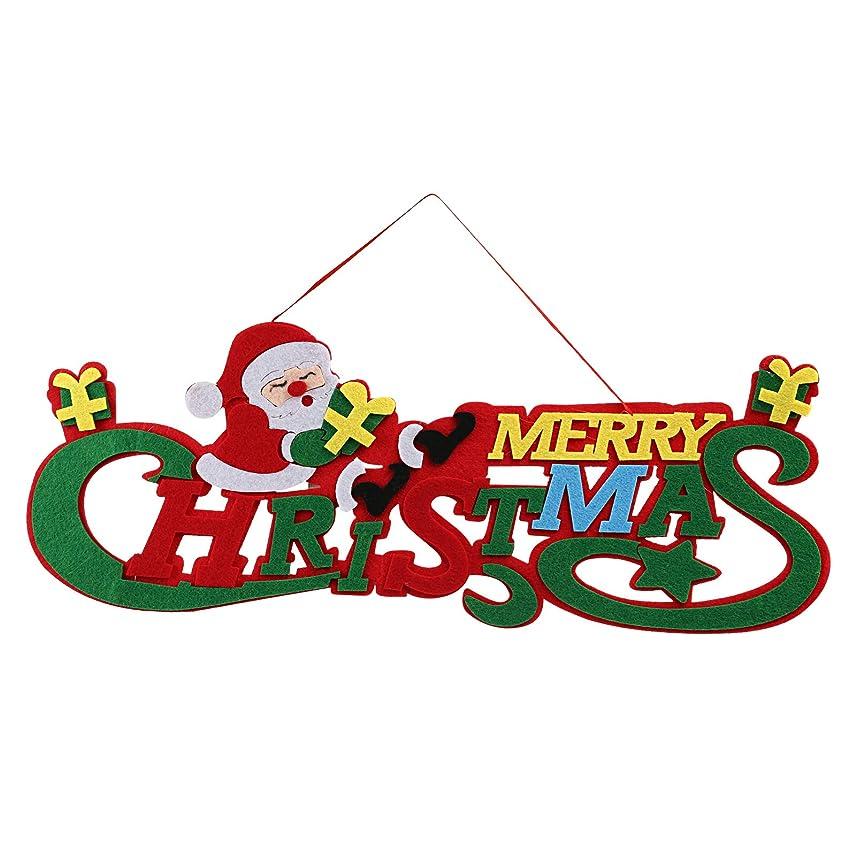 適切なパトロール試みKesote クリスマス飾り クリスマスリース 玄関 ドア飾り 壁掛け 店舗用 パーディー用 サンタクロース フェルト 約43x18㎝