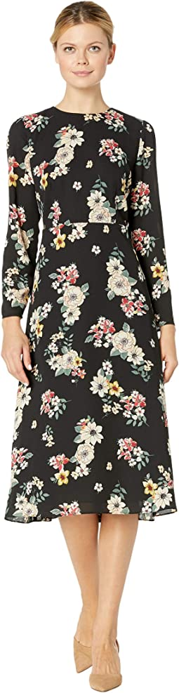 Long Sleeve Floral Story Dress