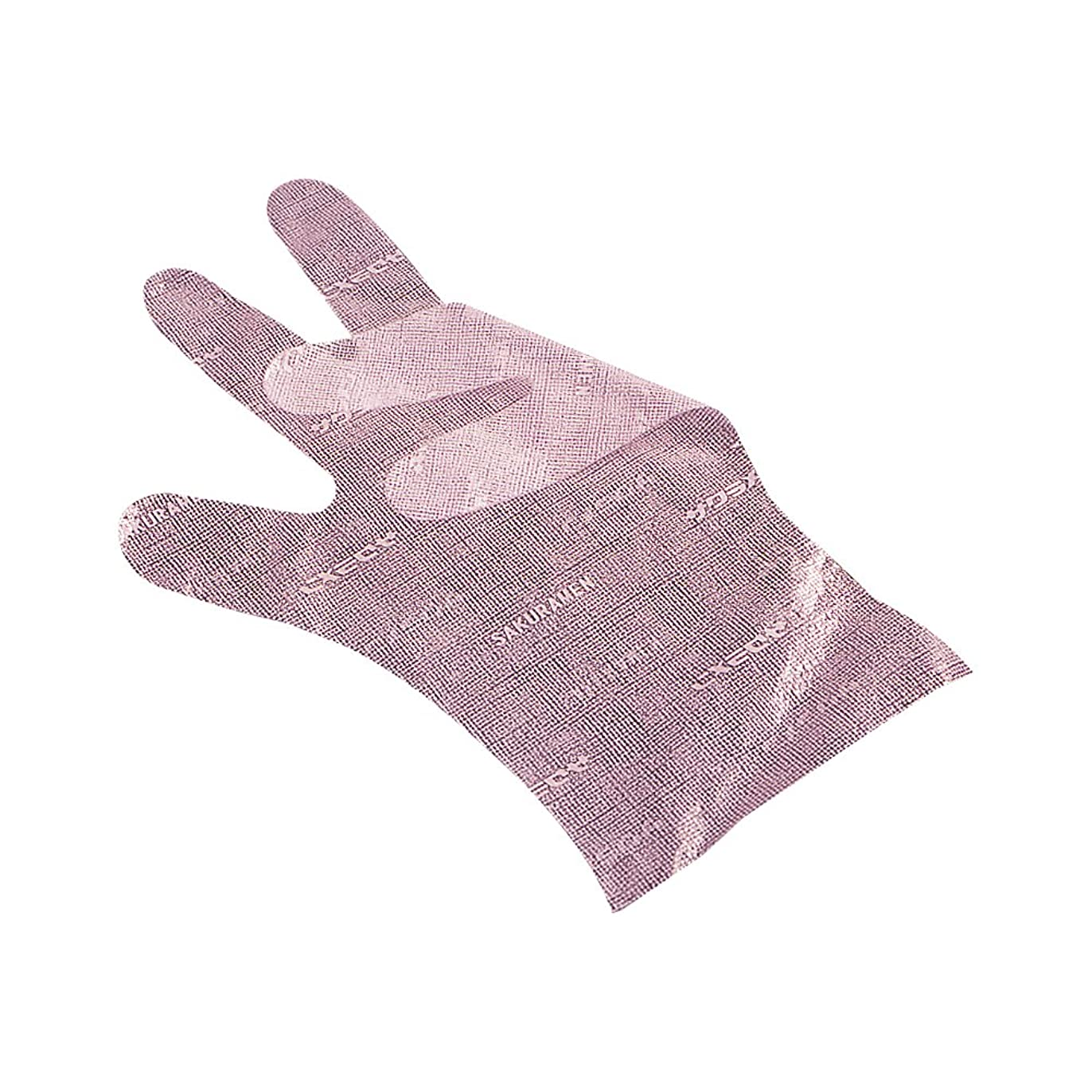 排除するオーバードローレパートリーサクラメンエンボス手袋 デラックス ピンク M 100枚入