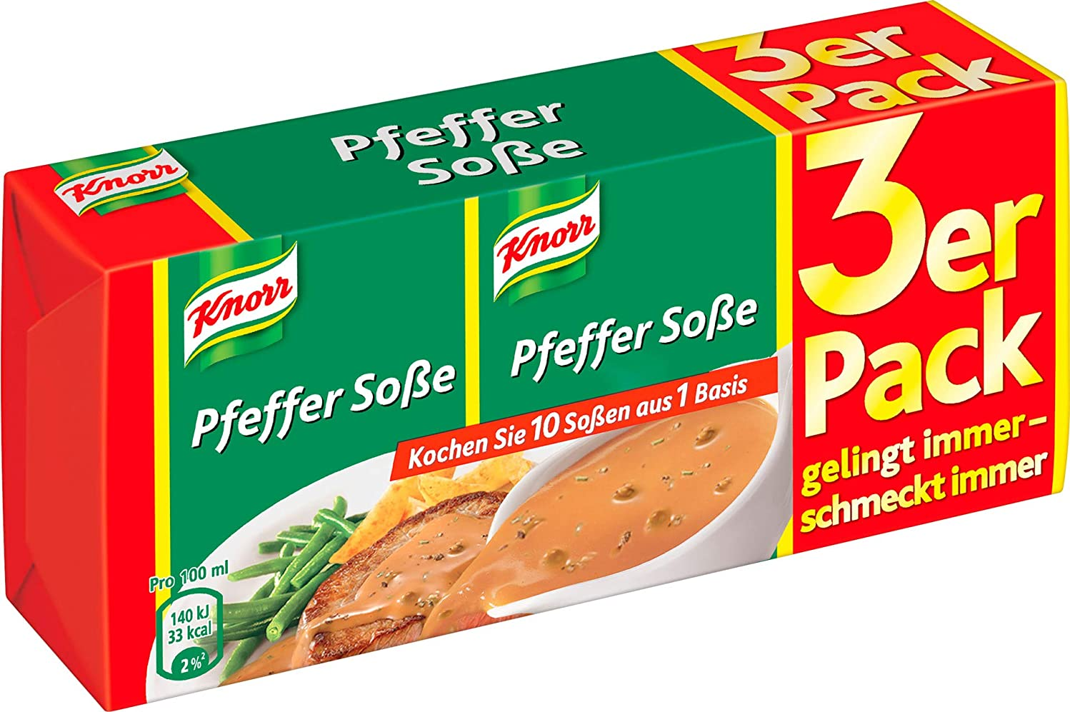 Knorr Pepper Sauce 3-Pack