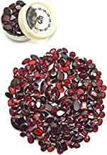 GemMartUSA 50+ Carats of Real Natural Red Garnet Mix Gemstones Lot in Mixed Shapes and Sizes. Grade A quality, Incredible Wholesale Price. Prepared exclusively by GT-60001