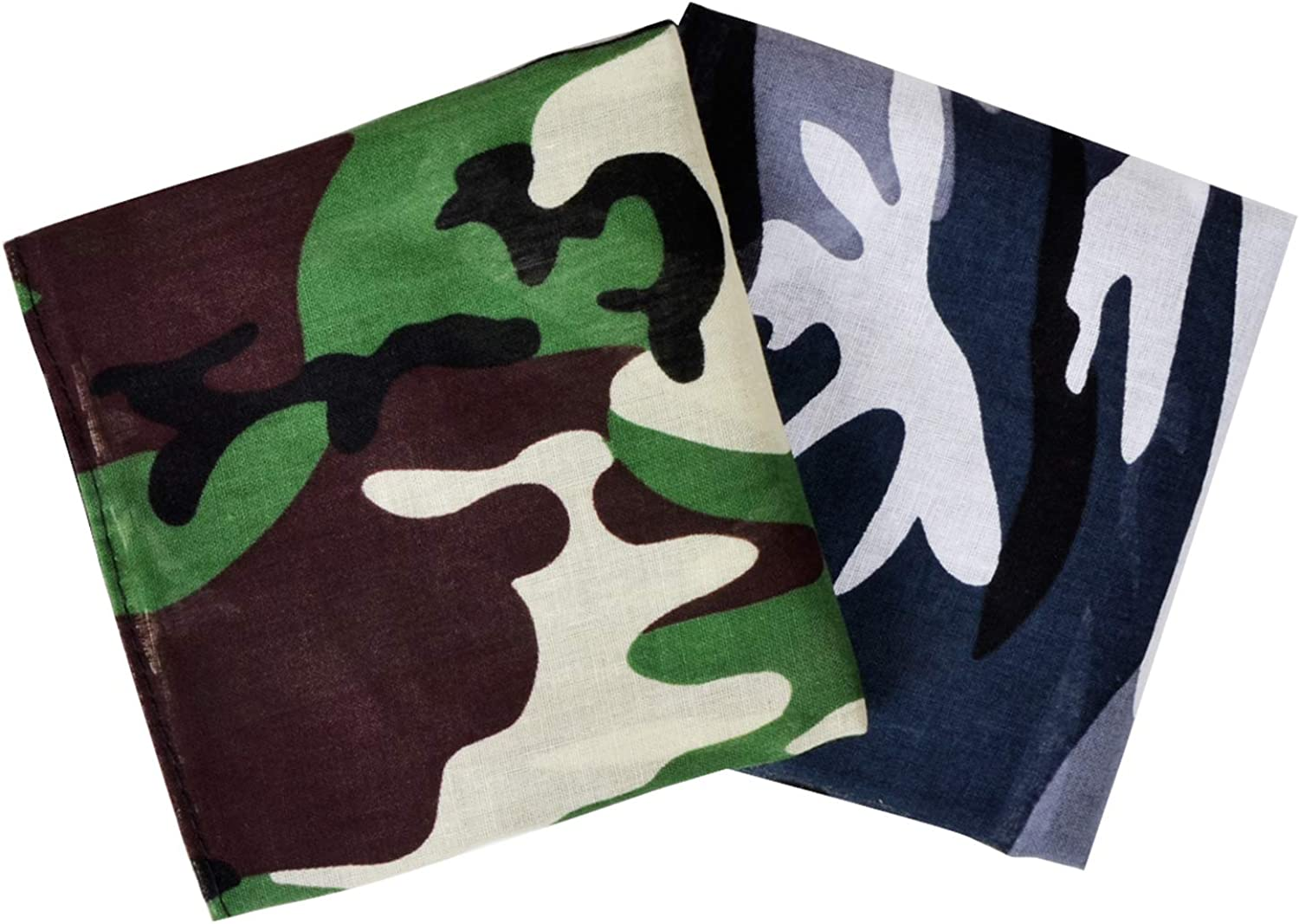 GERINLY Men's Camouflage Bandana 2PCS Face Cover National products outlet Square Military