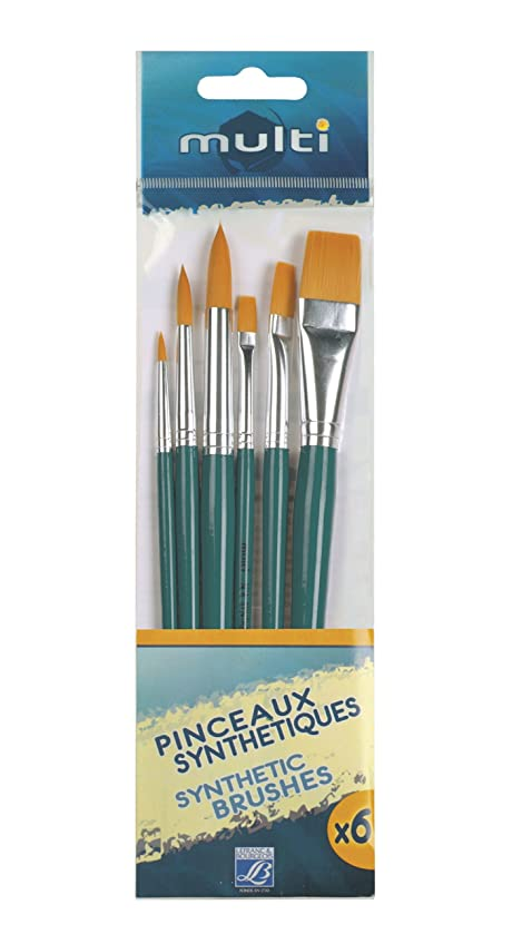 Lefranc Bourgeois Paint Brush Value Pack Multi 6?Assorted Colours