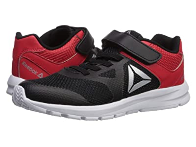Reebok Kids Rush Runner Alt (Little Kid) (Black/Red/Silver) Boys Shoes