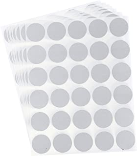 210-Pack Scratch Off Stickers - 1 Inch Round Scratch Off Labels, Quarter Sized DIY Peel and Stick Adhesive Scratch Circles - Ideal for Bridal Shower Games, Bingo, Reward Scratch-Off Cards - Silver