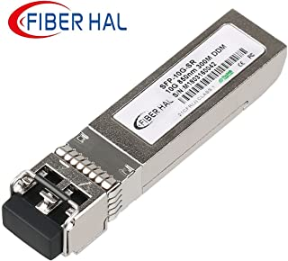 FiberHal for Cisco SFP-10G-SR, 10G SFP SR Module,MMF 10GBase-SR SFP Optic Transceiver,850nm, Reach 300m