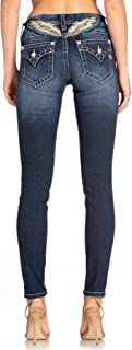 Miss Me Women's Angel Wings Embellished Low-Rise Skinny Jeans