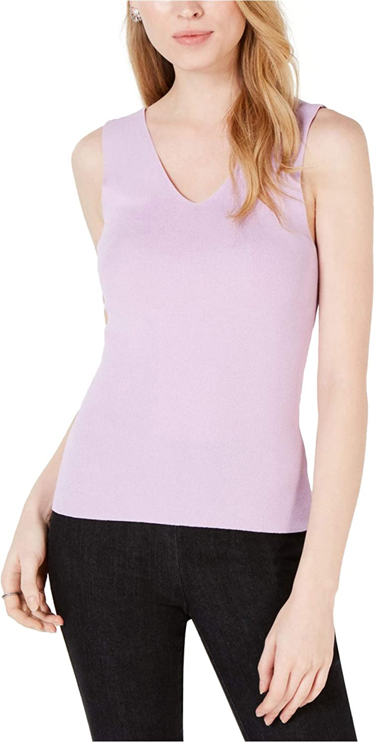 Maison Jules Womens Solid Tank Top