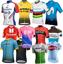Team Cycling Jersey Bicycle Maillot Breathable MTB Short Sleeve Bike Clothing Ropa Ciclismo Makfacp (Color : Alpecin, Size : M)