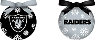 Team Sports America Oakland Raiders LED Ornaments, Set of 9
