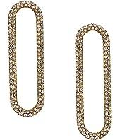 Michael Kors Iconic Pave Single Link Earrings