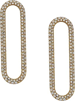 Iconic Pave Single Link Earrings